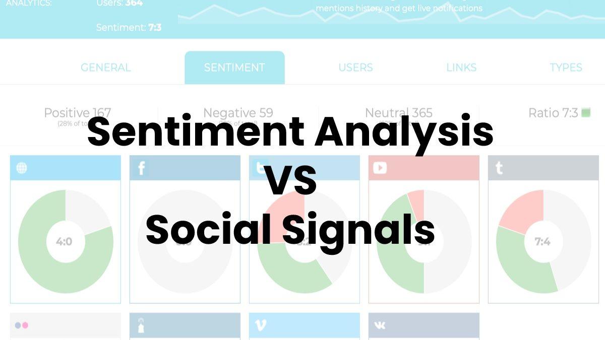 Sentiment Analysis VS Social Signals