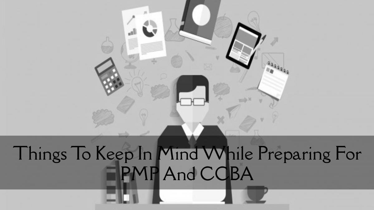Things To Keep In Mind While Preparing For PMP And CCBA