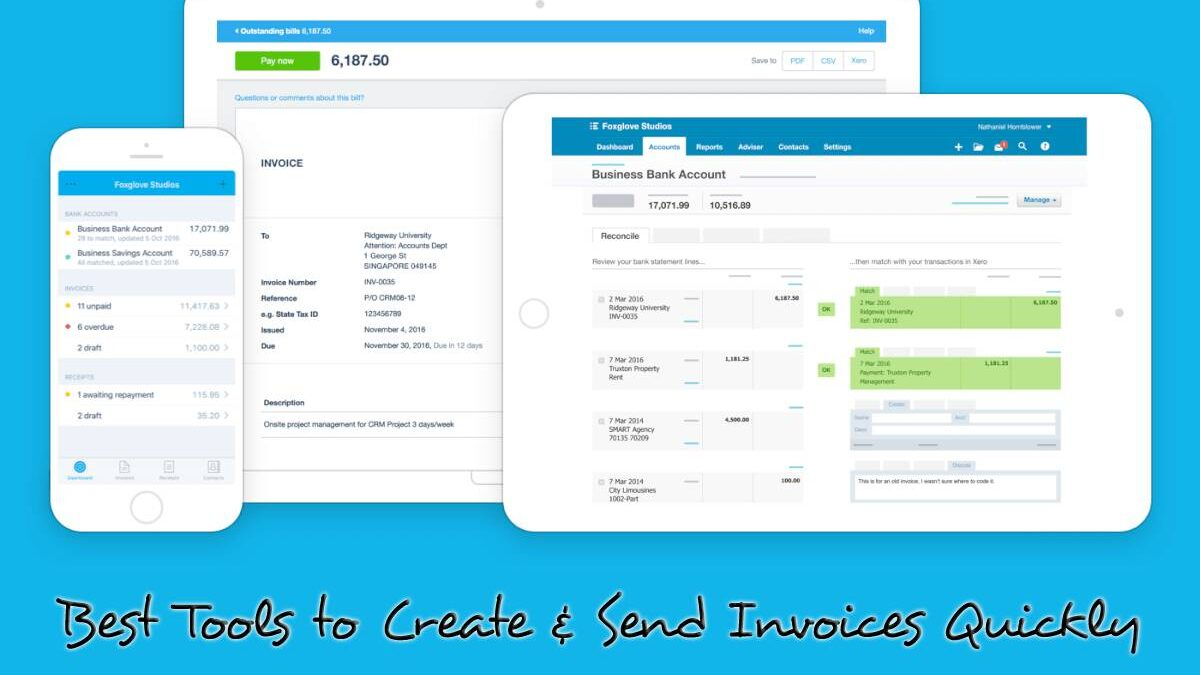 5 Best Tools to Create & Send Invoices Quickly