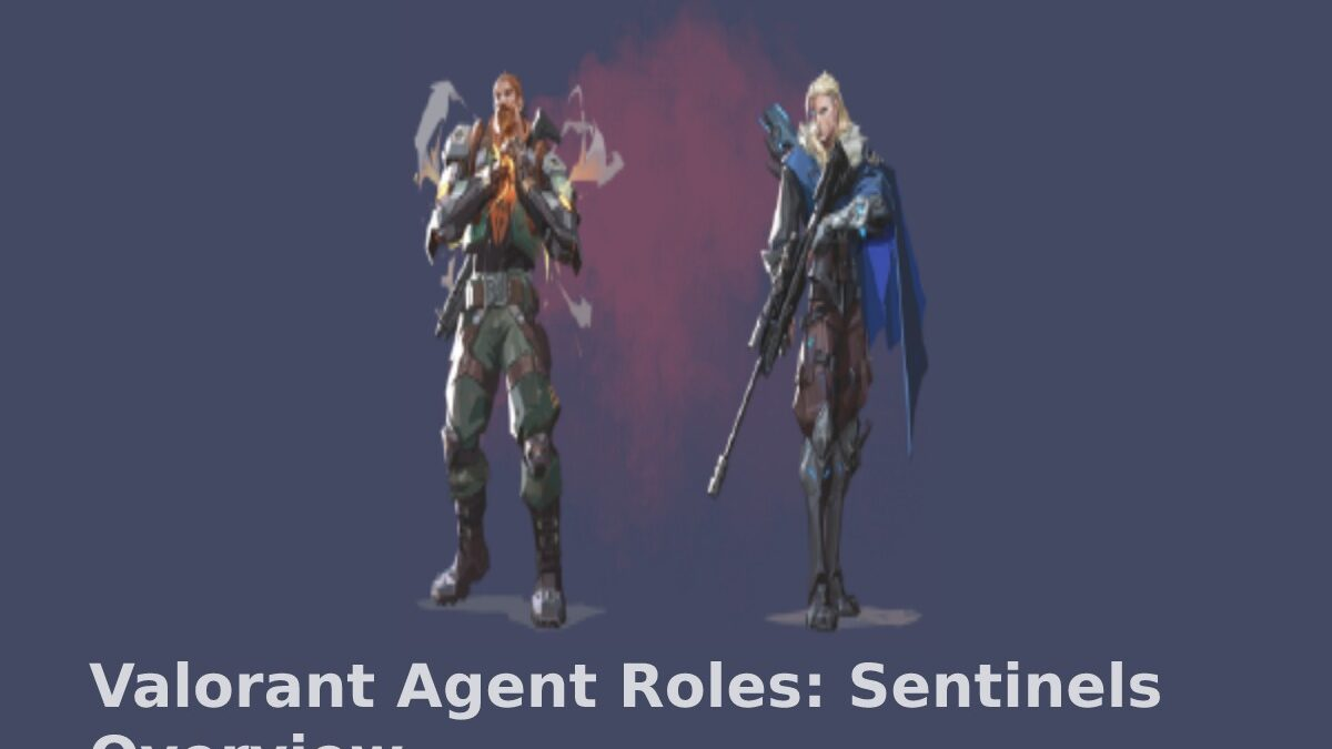 Valorant Agent Roles: Sentinels Overview