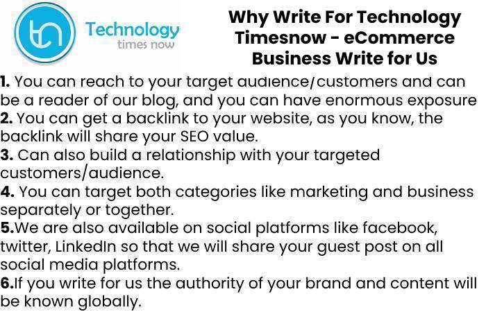 Why Write For Technology Timesnow - eCommerce Business Write for Us